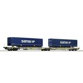 Roco 76415 Containervagn Sdggmrs|T2000 AAE 'Sampskip'