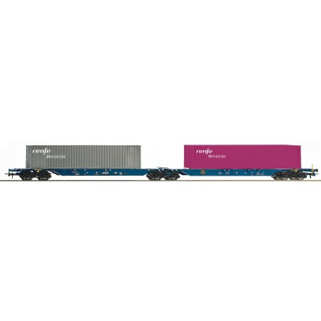 Roco 76641 Dubbel containervagn Sggmrs typ RENFE