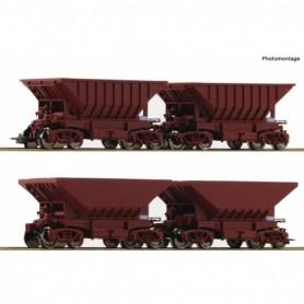 Roco 67084 Malmvagnsset med 4 vagnar 'LKAB'