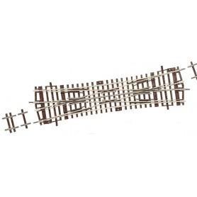 Roco 42451 Korsningsväxel, dubbel, manuell, 15°, radie: 1050 mm, längd: 230 mm