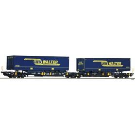 Fleischmann 825001 Dubbel containervagn T2000 'Wascosa|LKW Walter'