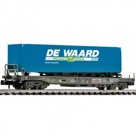 Fleischmann 845369 Flakvagn med last av semitrailer 'De Waard'