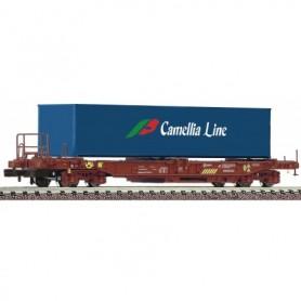 Fleischmann 845368 Flakvagn med last av container 'Spedition Camellia Line' RENFE