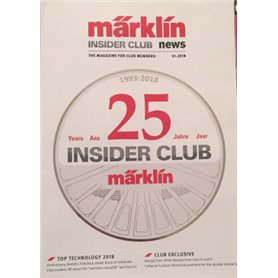 Märklin Insider 01/2018, magasin från Märklin, 25 sidor