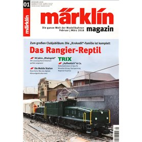 Märklin 298082 Märklin Magazin 1/2018 Engelska