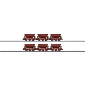 Vagnsset med 6 st malmvagnar Mas IV typ SJ