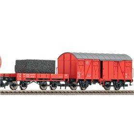 Vagnsset med 2 godsvagnar typ DB