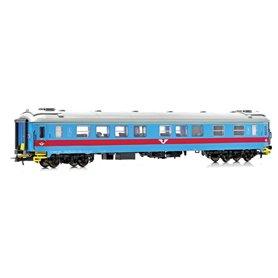 NMJ 201501 Personvagn SJ A2K.5043 1:a klass, Inter-Regio färger