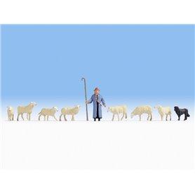 Noch 15748 Fåraherde, hund och får