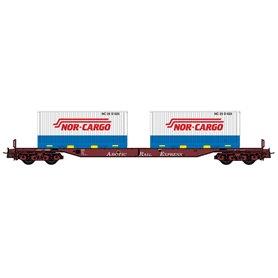 "NMJ 5056021 Containervagn Sggs 31 76 0 008-9 typ NSB ""Nor-Cargo"""