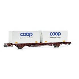 """Containervagn Green Cargo Lgjns 42 74 443 1 295-8 """"Coop - En klimatsmart transport"""""""