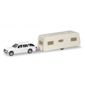 Herpa 013413 Herpa MiniKit. Mercedes-Benz E-Class T-Model with caravan