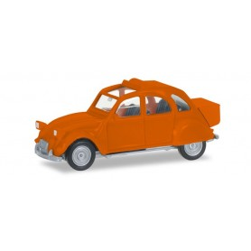 Herpa 027632-004 Citroen 2 CV mit Queue, orange