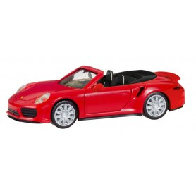 Herpa 028929 Porsche 911 Turbo Cabriolet, indian red