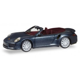 Herpa 038928 Porsche 911 Turbo Cabriolet, deep black metallic