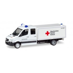 Herpa 093651 Mercedes-Benz Sprinter double cabin with box 'DRK Staufen'