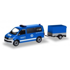 Herpa 093668 VW T6 bus with trailer 'THW Korbach | Höhenrettung'