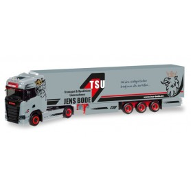 Herpa 308809 'Scania CS HD refrigerated semitrailer ''TSU Bode'''
