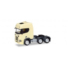 Herpa 308816 Scania CR 20 HD 6x2 rigid tractor, light yellow