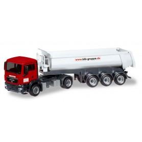 Herpa 308847 MAN TGS M dump semitrailer 'BTB Berlin'