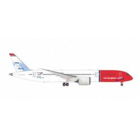 Herpa 559140 Flygplan B787-9 Norwegian 'Babe Ruth'