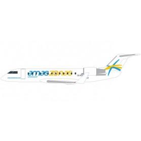 Herpa 611541 Flygplan CRJ-200 Amaszonas Uruguay