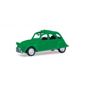 Herpa 020824-005 Citroen 2 CV with folding top open, traffic green