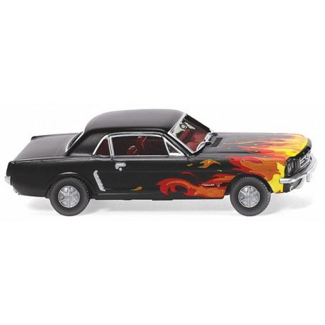 Wiking 20503 Ford Mustang Coupé - black with flame decoration