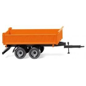 Wiking 67804 Three-way tipper trailer municipal orange