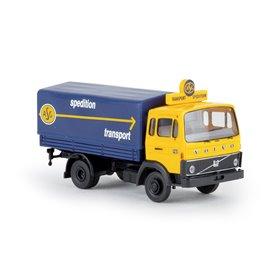 """Brekina 34758 Volvo F613 PP """"ASG"""" med gul hytt"""