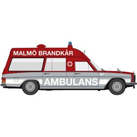 "Brekina 13816 Mercedes Benz 8 KTW ""Ambulans Malmö Brandkår 907"" ""Von Starmada"""
