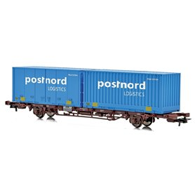 "Containervagn CargoNet med 2 st 24'' containrar ""Postnord"""