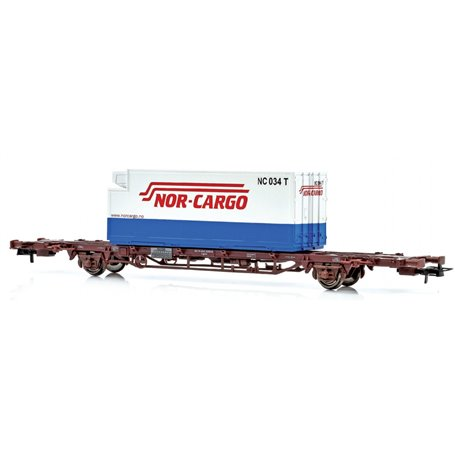 """NMJ 507106 Containervagn CargoNet med 1 st 25'' container """"NOR-CARGO"""""""