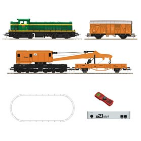 Roco 51305 Digital z21® start Set: Diesel locomotive D.307 with track maintenance train, RENFE
