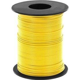 Kabel, 100 meter på rulle, gul, 1 x 0.14 mm²