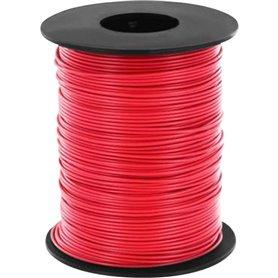Beli-Beco L118/100R Kabel, 100 meter på rulle, röd, 1 x 0.14 mm²