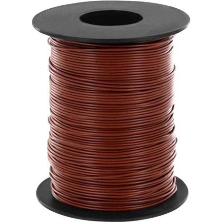 Beli-Beco L118/100BR Kabel, 100 meter på rulle, brun, 1 x 0.14 mm²
