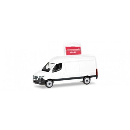 Herpa 013475 Herpa MiniKit. Mercedes-Benz Sprinter `18 box type with high roof, white