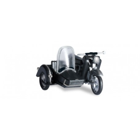 Herpa 053433-004 MZ 25 with matching sidecar, black