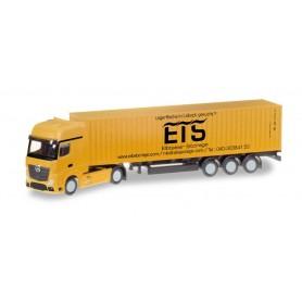 Herpa 066778 Mercedes-Benz Actros LH container trailer 'Elbtainer Storage'