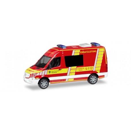 Herpa 093620 Mercedes-Benz Sprinter semi-bus 'Rhede fire Department command vehicle'