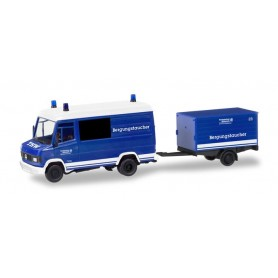 Herpa 093736 Mercedes-Benz T2 with box trailer 'Technical Relief of the rescue divers'