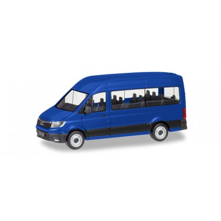 Herpa 093743 MAN TGE Bus, ultramarine blue