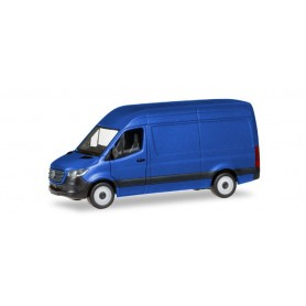 Herpa 093811 Mercedes-Benz Sprinter `18 box type with high roof, ultramarine blue