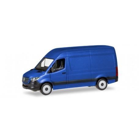 Herpa 093811 Mercedes-Benz Sprinter `18 box type with high roof, ultramarine blue