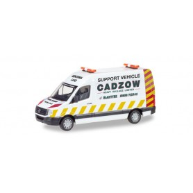 Herpa 093897 VW Crafter box high roof support vehicle 'Cadzow' (GB)