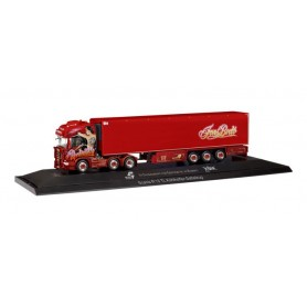 Herpa 121873 Scania R TL 6x2 refrigerated semitrailer 'TSU Bode | Rockabilly-Truck' (PC)