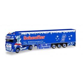Herpa 308892 DAF XF SSC Euro 6 refrigerated box semitrailer 'Scheufler'