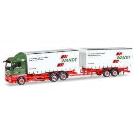 Herpa 308922 MAN TGX XLX Euro 6c curtain canvas trailer 'Wandt'