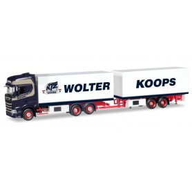 Herpa 308946 Scania CS high roof refrigerated box Trailer 'Wolter Koops' (NL)